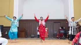 Bhangra dancing