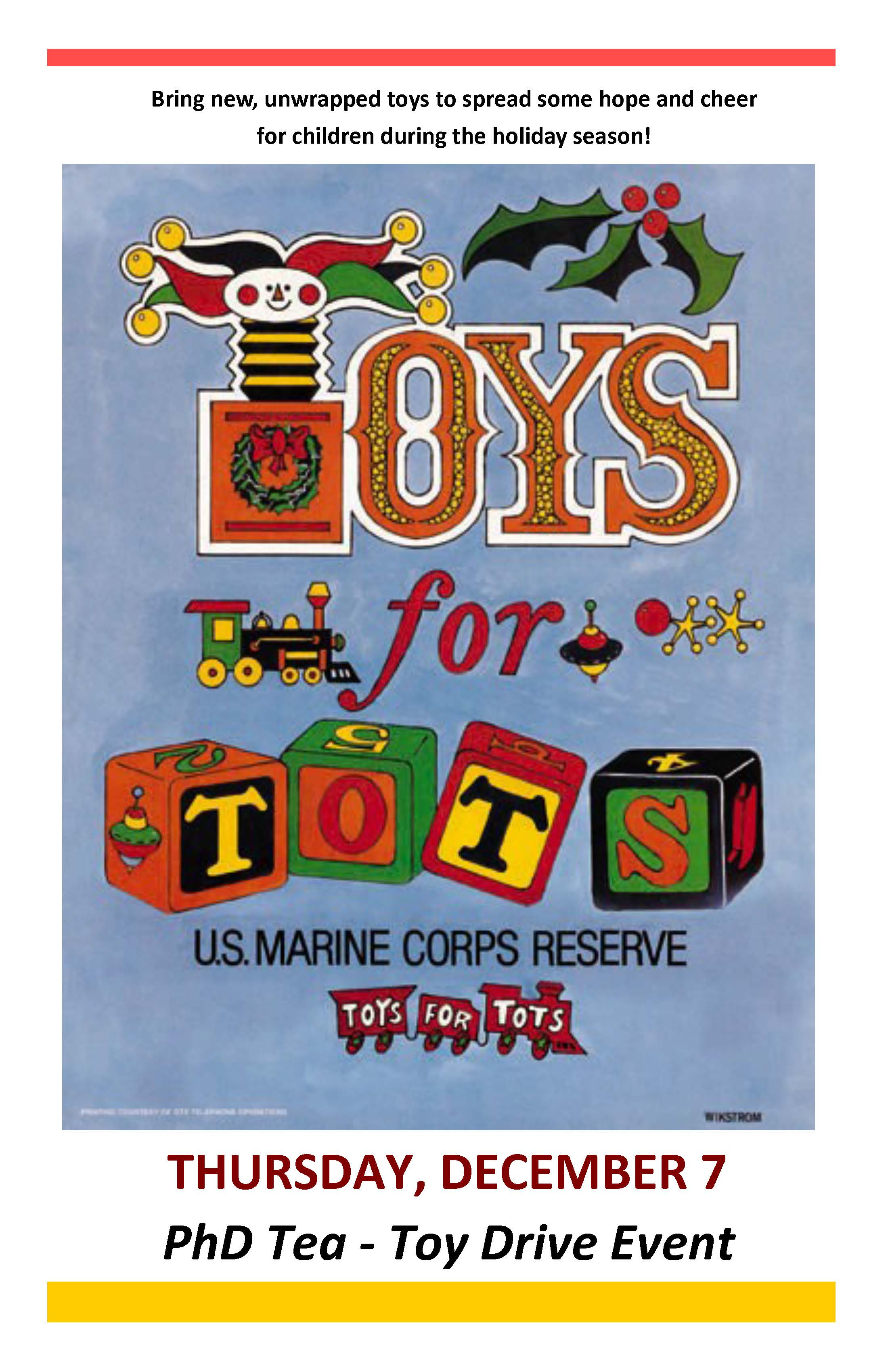 Toys For Life : Toys for tots phd tea life at tepper