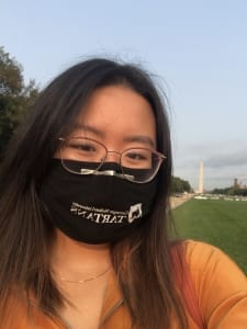 Selfie at the National Mall, Washington Monument in background