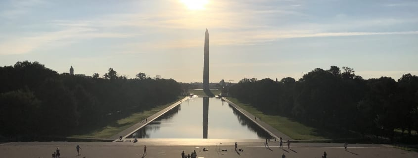 Sun over Washington Monument